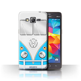 STUFF4 Phone Case/Cover for Samsung Galaxy Grand Prime/Blue Design/VW Camper Van Collection Mobile phones