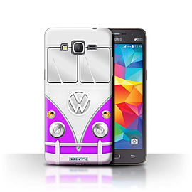 STUFF4 Phone Case/Cover for Samsung Galaxy Grand Prime/Purple Design/VW Camper Van Collection Mobile phones