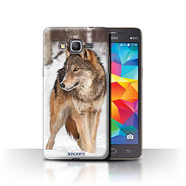 STUFF4 Phone Case/Cover for Samsung Galaxy Grand Prime/Wolf Design/Wildlife Animals Collection Mobile phones
