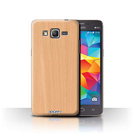 STUFF4 Phone Case/Cover for Samsung Galaxy Grand Prime/Beech Design/Wood Grain Effect/Pattern Mobile phones