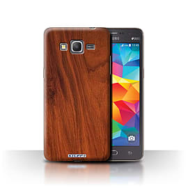 STUFF4 Phone Case/Cover for Samsung Galaxy Grand Prime/Mahogany Design/Wood Grain Effect/Pattern Mobile phones