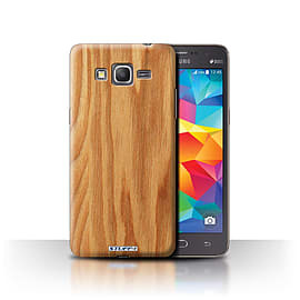 STUFF4 Phone Case/Cover for Samsung Galaxy Grand Prime/Oak Design/Wood Grain Effect/Pattern Mobile phones