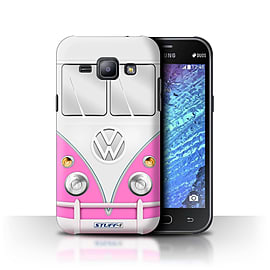 STUFF4 Phone Case/Cover for Samsung Galaxy J1/J100/Pink Design/VW Camper Van Collection Mobile phones