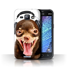 STUFF4 Phone Case/Cover for Samsung Galaxy J1/J100/Ridiculous Dog Design/Funny Animals Collection Mobile phones