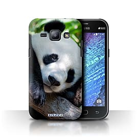STUFF4 Phone Case/Cover for Samsung Galaxy J1/J100/Panda Bear Design/Wildlife Animals Collection Mobile phones