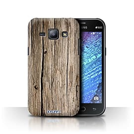 STUFF4 Phone Case/Cover for Samsung Galaxy J1/J100/Driftwood Design/Wood Grain Effect/Pattern Mobile phones