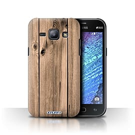 STUFF4 Phone Case/Cover for Samsung Galaxy J1/J100/Plank Design/Wood Grain Effect/Pattern Collection Mobile phones