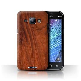 STUFF4 Phone Case/Cover for Samsung Galaxy J1/J100/Mahogany Design/Wood Grain Effect/Pattern Mobile phones
