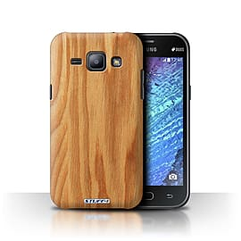 STUFF4 Phone Case/Cover for Samsung Galaxy J1/J100/Oak Design/Wood Grain Effect/Pattern Collection Mobile phones