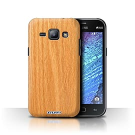 STUFF4 Phone Case/Cover for Samsung Galaxy J1/J100/Pine Design/Wood Grain Effect/Pattern Collection Mobile phones