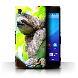 STUFF4 Phone Case/Cover for Sony Xperia M4 Aqua/Sloth Design/Wildlife Animals Collection Mobile phones