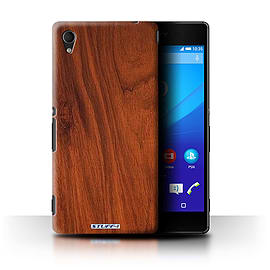 STUFF4 Phone Case/Cover for Sony Xperia M4 Aqua/Mahogany Design/Wood Grain Effect/Pattern Collection Mobile phones