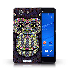STUFF4 Phone Case/Cover for Sony Xperia Z3 Compact/Monkey-Colour Design/Aztec Animal Design Mobile phones