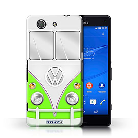 STUFF4 Phone Case/Cover for Sony Xperia Z3 Compact/Green Design/VW Camper Van Collection Mobile phones