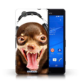 STUFF4 Phone Case/Cover for Sony Xperia Z3 Compact/Ridiculous Dog Design/Funny Animals Collection Mobile phones