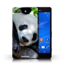 STUFF4 Phone Case/Cover for Sony Xperia Z3 Compact/Panda Bear Design/Wildlife Animals Collection Mobile phones