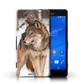 STUFF4 Phone Case/Cover for Sony Xperia Z3 Compact/Wolf Design/Wildlife Animals Collection Mobile phones