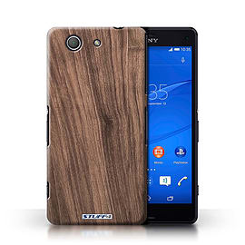 STUFF4 Phone Case/Cover for Sony Xperia Z3 Compact/Walnut Design/Wood Grain Effect/Pattern Mobile phones