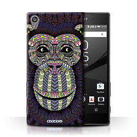 STUFF4 Phone Case/Cover for Sony Xperia Z5/5.2/Monkey-Colour Design/Aztec Animal Design Collection Mobile phones