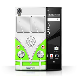 STUFF4 Phone Case/Cover for Sony Xperia Z5/5.2/Green Design/VW Camper Van Collection Mobile phones