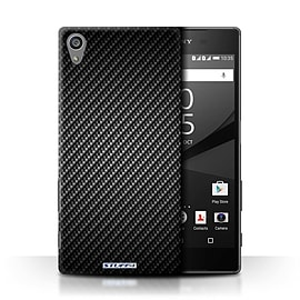 STUFF4 Phone Case/Cover for Sony Xperia Z5/5.2/Grey Design/Carbon Fibre Effect/Pattern Collection Mobile phones