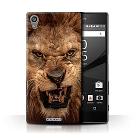 STUFF4 Phone Case/Cover for Sony Xperia Z5/5.2/Lion Design/Wildlife Animals Collection Mobile phones