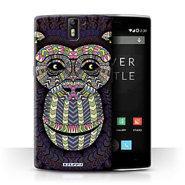 STUFF4 Phone Case/Cover for OnePlus One/Monkey-Colour Design/Aztec Animal Design Collection Mobile phones