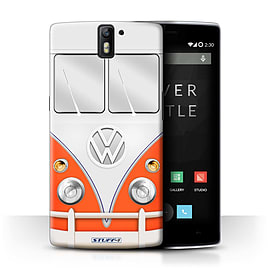 STUFF4 Phone Case/Cover for OnePlus One/Red Design/VW Camper Van Collection Mobile phones