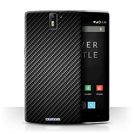 STUFF4 Phone Case/Cover for OnePlus One/Grey Design/Carbon Fibre Effect/Pattern Collection Mobile phones