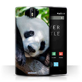 STUFF4 Phone Case/Cover for OnePlus One/Panda Bear Design/Wildlife Animals Collection Mobile phones