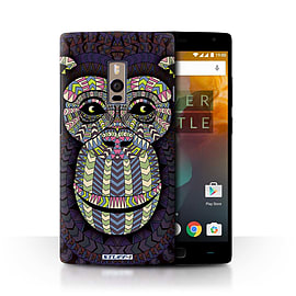 STUFF4 Phone Case/Cover for OnePlus 2/Two/Monkey-Colour Design/Aztec Animal Design Collection Mobile phones