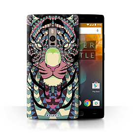 STUFF4 Phone Case/Cover for OnePlus 2/Two/Tiger-Colour Design/Aztec Animal Design Collection Mobile phones