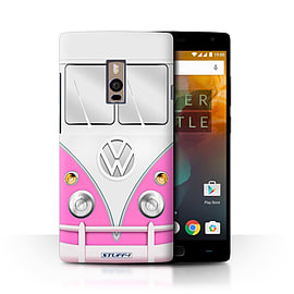STUFF4 Phone Case/Cover for OnePlus 2/Two/Pink Design/VW Camper Van Collection Mobile phones