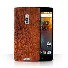 STUFF4 Phone Case/Cover for OnePlus 2/Two/Mahogany Design/Wood Grain Effect/Pattern Collection Mobile phones