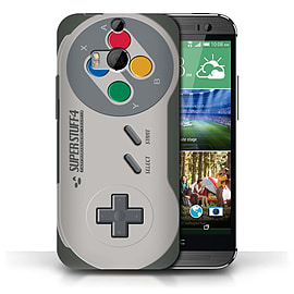 STUFF4 Phone Case/Cover for HTC One/1 M8/Super Nintendo Design/Games Console Collection Mobile phones