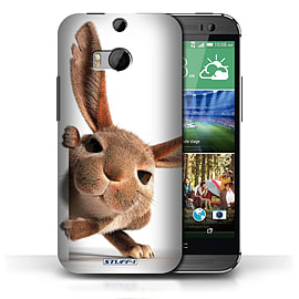 STUFF4 Phone Case/Cover for HTC One/1 M8/Peeking Bunny Design/Funny Animals Collection Mobile phones
