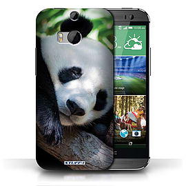 STUFF4 Phone Case/Cover for HTC One/1 M8/Panda Bear Design/Wildlife Animals Collection Mobile phones