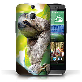 STUFF4 Phone Case/Cover for HTC One/1 M8/Sloth Design/Wildlife Animals Collection Mobile phones