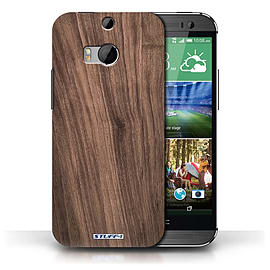STUFF4 Phone Case/Cover for HTC One/1 M8/Walnut Design/Wood Grain Effect/Pattern Collection Mobile phones