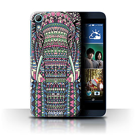 STUFF4 Phone Case/Cover for HTC Desire 626/Elephant-Colour Design/Aztec Animal Design Collection Mobile phones