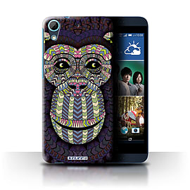 STUFF4 Phone Case/Cover for HTC Desire 626/Monkey-Colour Design/Aztec Animal Design Collection Mobile phones