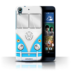 STUFF4 Phone Case/Cover for HTC Desire 626/Blue Design/VW Camper Van Collection Mobile phones