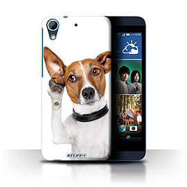 STUFF4 Phone Case/Cover for HTC Desire 626/Listening Dog Design/Funny Animals Collection Mobile phones