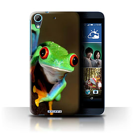 STUFF4 Phone Case/Cover for HTC Desire 626/Frog Design/Wildlife Animals Collection Mobile phones