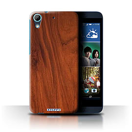 STUFF4 Phone Case/Cover for HTC Desire 626/Mahogany Design/Wood Grain Effect/Pattern Collection Mobile phones