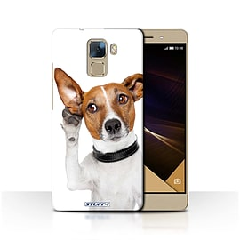 STUFF4 Phone Case/Cover for Huawei Honor 7/Listening Dog Design/Funny Animals Collection Mobile phones