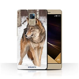 STUFF4 Phone Case/Cover for Huawei Honor 7/Wolf Design/Wildlife Animals Collection Mobile phones