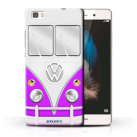 STUFF4 Phone Case/Cover for Huawei P8 Lite/Purple Design/VW Camper Van Collection Mobile phones