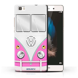 STUFF4 Phone Case/Cover for Huawei P8 Lite/Pink Design/VW Camper Van Collection Mobile phones