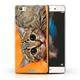 STUFF4 Phone Case/Cover for Huawei P8 Lite/Big Eye Cat Design/Funny Animals Collection Mobile phones